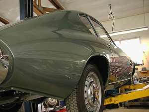 1966 FIAT GHIA 1500 COUPE back right on lift image